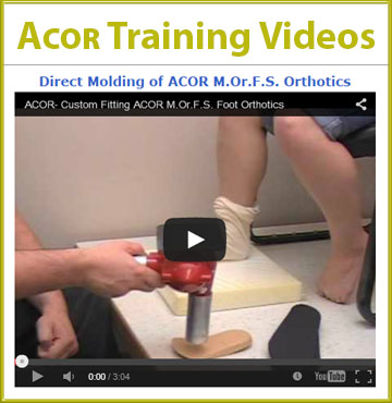 Acor's training videos, hosted by YouTube